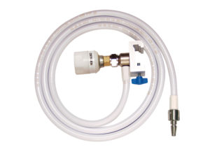 Schrader Hose Assembly with Rail Mount